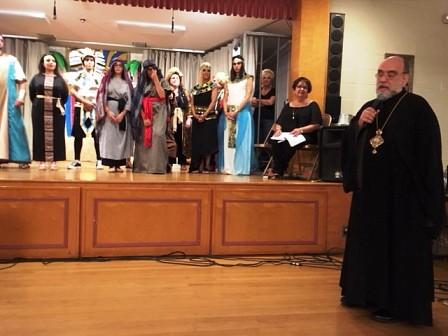 Archbishop Michael Congratulating the Cast