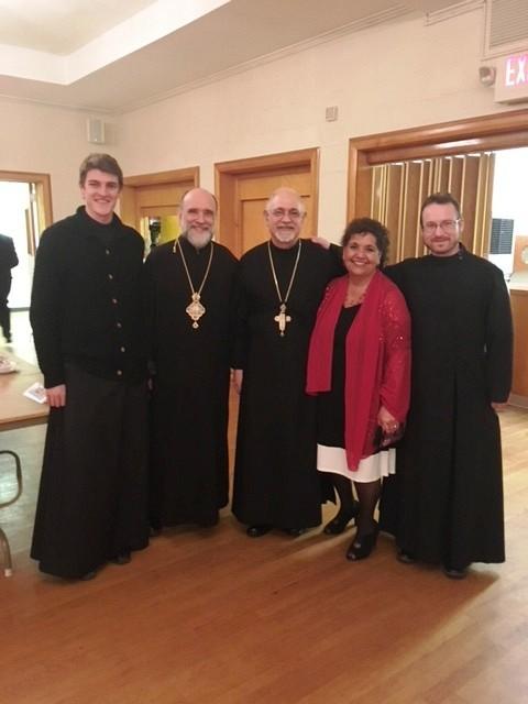 Archbishop Michael, Fr. Terence & Mat. Barbara, Deacon Stephan & Reader Aryan enjoying the occasion