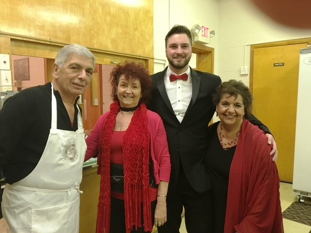 The Dinner Chef, Tony with Janet, Charles & Mat. Barbara