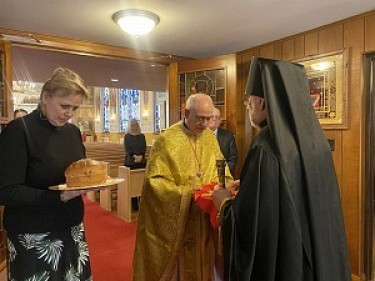 The Bobka & the Cross being presented to His Eminence