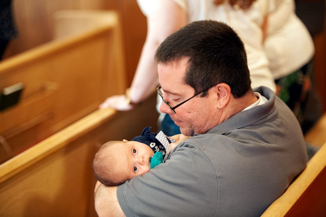 New born:  On the fortieth day the child is brought to the Temple to be churched, that is, to begin attending church. It is brought by the mother, who has already been cleansed and washed, accompanied by the intended sponsor at the Baptism.